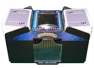 NEW Automatic Playing Card Shuffler 1- 4 Decks Battery Operated Easy Smooth