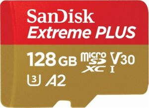 BRAND NEW Sandisk EXTREME PLUS 128gb micro sd XC card on sale!