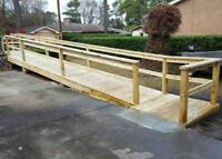 Deck, railing, ramp repairs, and modifications , and small jobs