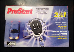 NEW in box - Remote car starter kit with keyless entry
