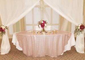 Rose Gold Table Clothes. Used Once.