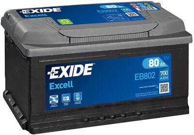 EB802 3 Year Warranty Exide Battery 80AH 700CCA W110SE Type 110