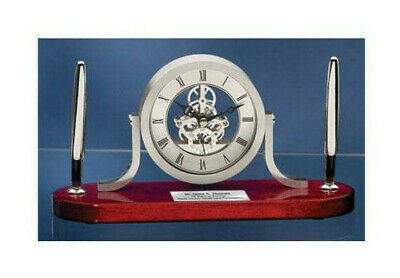 Clock Pen Gift Set Desk Table Da Vinci Shelf Clock With Silver Engraving Gifts
