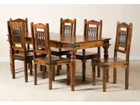Solid table & 6 chairs