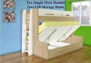 Children's bunk bed + gas lift storage, desk Our price from $700 Rockdale Rockdale Area Preview