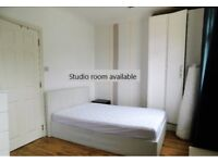 Studio Room to Rent 5 min walk from Woolwich Centre & DLR - Newly decorated - £800 pcm bills inc