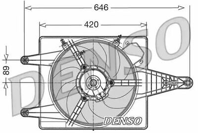 Denso DER01010 Engine Cooling Fan Replaces 60816690 85108
