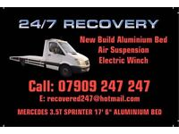 Car recovery & Breakdown 24/7. Luton based, rapid response
