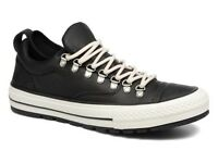 *******Converse All Star Descent Mens Black Quilted Leather Trainers rrp£70