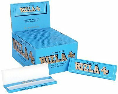Rizla Blue King Size Smoking Rolling Long Papers Box 50 Booklets Papes Blättchen ()