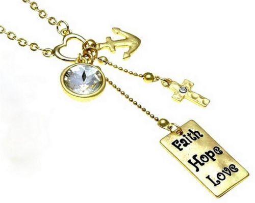Faith hope love necklace ebay for Faith hope love jewelry