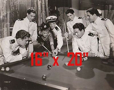 "Marlene Dietrich~Shooting Pool~~Photo~Billiards~Poster~16"" x 20"" Photo"