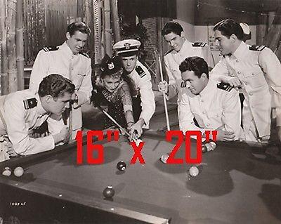 "Marlene Dietrich~Shooting Pool~~Photo~Billiards~Poster~16"" x 20"" Photo"
