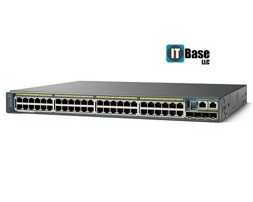 Cisco Ws-c2960s-48fps-l 48 Ethernet 10/100/1000 Poe+ Ports Switch, Latest Ios