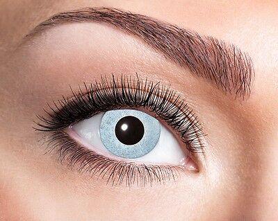 Eyecatcher Motiv Linsen Mirror 656 farbige 12 Monats - Silber Kontaktlinsen