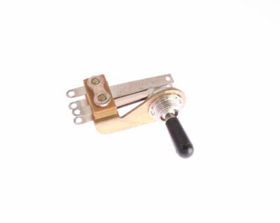 1x 12035l Switchcraft 3-position Locking Lever Switch With Black Knob Actuator