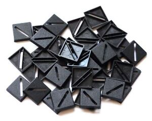 50 (Fifty) 20mm Square Slotta Bases for Wargaming / Roleplaying New