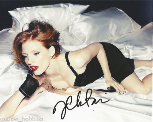 Jessica Chastain Sexy Autographed Signed 8x10 Photo COA #5