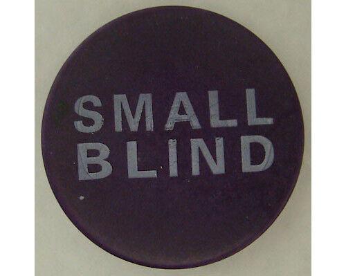 """Small Blind Button 2"""" Diameter Ceramic Poker Casino - Lammer"""