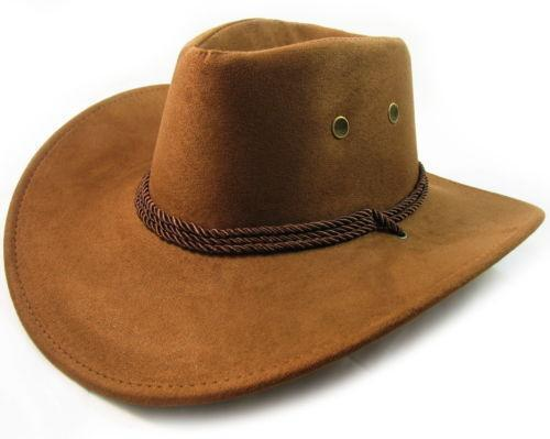 Mens Leather Cowboy Hat Ebay