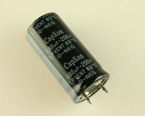 LOT 10x CAPXON 680u 200V Aluminum Electrolytic Snap In Capacitor LP681M200M460CX