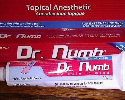#1 DR NUMB 30g Cream Tattoo Waxing Numbing Strongest Original Formula New Sealed on Rummage