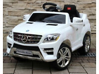 Mercedes ML350 6V Electric Ride on Kids Car with Remote White
