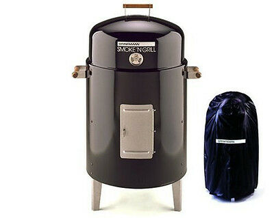 Barbeque Grill Charcoal Smoker Outdoor BBQ Cover Meat Smoke Char Flavor Seasoned