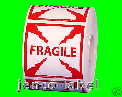 Ml22101 500 2x2 Fragile Labelssticker