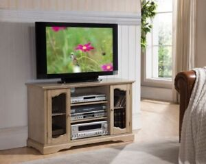 Kings Brand Furniture Antique White Tv Stand Entertainment Center