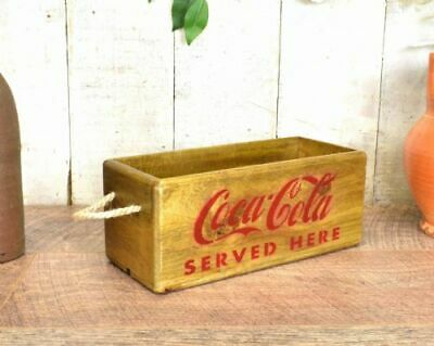 Coca Cola Coke Reproduction Vintage antique wooden box crate trug Bar Man Cave