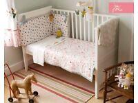 Joules Mad Hatter Nursery Bundle - Moses Basket Set & Nursery Set With Curtains £60