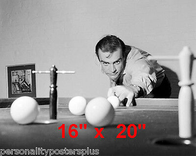 "Sean Connery~James Bond~Playing Pool~Billiards~Poster~16"" x 20"" Photo"