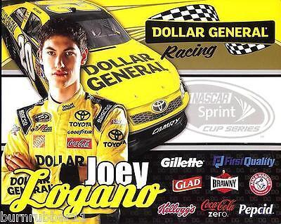 2012 Joey Logano   20 Dollar General  3Rd Version Nascar Sprint Cup Postcard