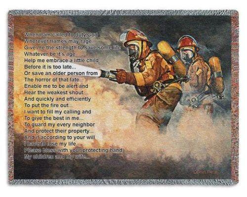 Firefighter Blanket Ebay