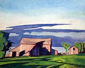 """""""Barn on Bayview"""" Lithograph by A.J. Casson appraised at $650"""