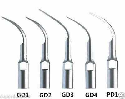 5pcs Usa Dental Ultrasonic Piezo Scaler Scaling Tips Fit Dte Satelec Gd1-gd4 Pd1