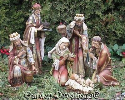 5 pc OUTDOOR NATIVITY SET Ornate Old World Charm ~  YARD DECOR *Damage Sale*