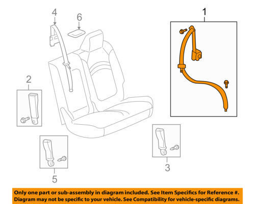 GM OEM SECOND ROW SEAT-RESTRAINT SYSTEM-OUTER BELT ASSEMBLY LEFT 19355566
