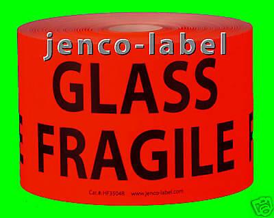 Hf3504r 500 3x5 Glass Fragile Labelsticker