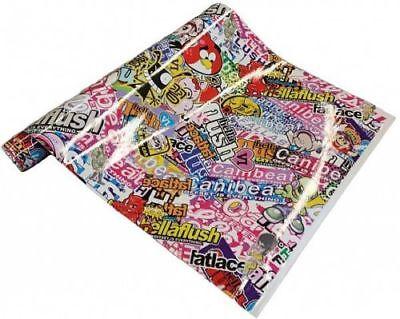21€/m² Stickerbomb Folie - Hellaflush 30 x 152 cm Aufkleber Sticker JDM Sammlung