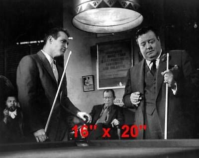 "Paul Newman~Hustler~Billiards~#1~Shooting Pool~Playing Pool~Photo~Poster 16""x20"""