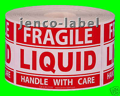 Ml23126 500 2x3 Fragile Liquid Handle With Care