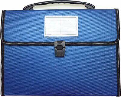 Cypress Lane Expanding File Folders With Handle 13 Pockets Letter Size Blue - $9.94