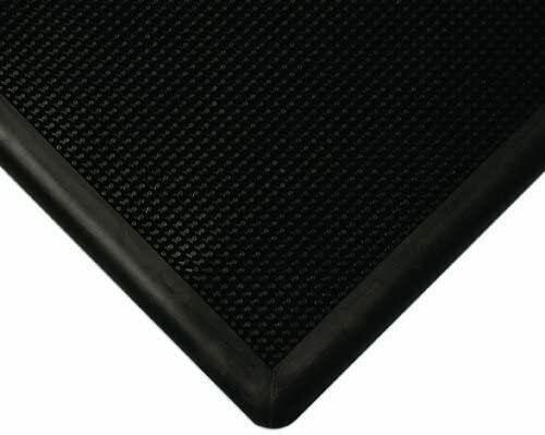 "Wearwell Natural Rubber Black 222 Anti-Fatigue Mat 24"" x 32"" x 1/2"""