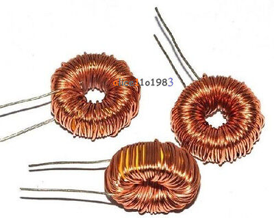 5pcs Toroid Core Inductors Wire Wind Wound For Diy Mah--100uh 6a Coil