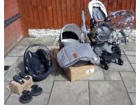 Joolz Day Studio Gris Complete Pram Travel System Pushchair Extras Foot Board / Footmuff / Car seat