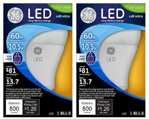 G E LIGHTING - LED Outdoor Post Light Bulb, 11-Watt