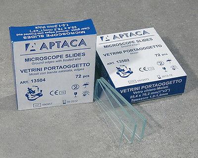 VETRINI PORTAOGGETTO MOLATI 26X76mm APTACA (72 pz.) PER MICROSCOPIO