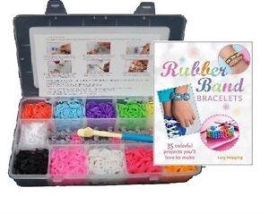 3000-Colourful-Loom-Rubber-Bands-Bracelet-Making-Starter-DIY-Kit-Clips-Book